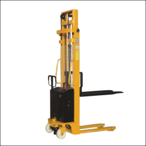 material handling, stacker, semi electric stacker,